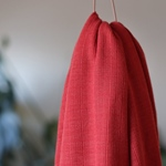 VISCOSE TRIM KNIT russet red