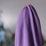 VISCOSE TRIM KNIT violet fig