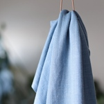 0,70m Rest VISCOSE TRIM KNIT faded blue