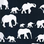 AFRICA ELEPHANT Popeline dunkelblau
