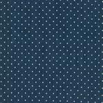 JANIS Stretch-Twill Punkte blau weiß
