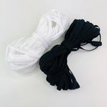 20m Gummiband-Set 5mm breit schwarz weiß