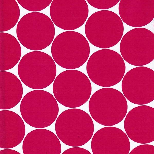 DORO Popeline Dots pink weiß