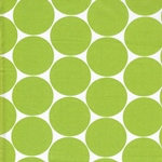 DORO Popeline Dots apfelgrün weiß