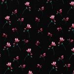 THEO Jersey kleine Blumen schwarz