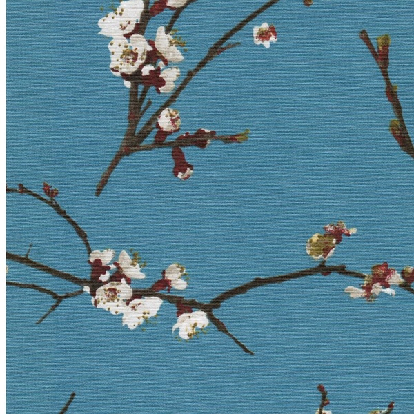 JAPANESE BLOSSOM Canvas helles petrol