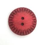 StrukturKnopf 2-Loch 23 mm rot