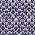 EMILIE Popeline Blütenfächer dunkelblau