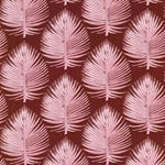 EMILIE Popeline Palmblätter rotbraun