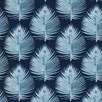 EMILIE Popeline Palmblätter dunkelblau
