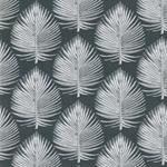 EMILIE Popeline Palmblätter grau