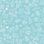 LISBET Jersey Blumen zartmint weiß