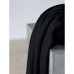 0,65m Reststück SOFT LIMA KNIT black