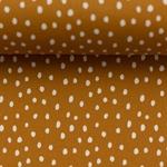 BECKY Popeline Punkte karamell