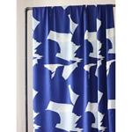 0,70m Reststück RUSH Viskose-Twill blue