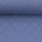 TONI Popeline geometrisch blau