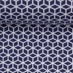 TONI Popeline geometrisch dunkelblau