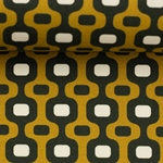 TONI Popeline geometrisch senf schwarz