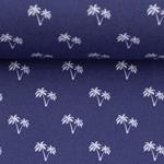 TONI Popeline Mini Palme dunkelblau weiß