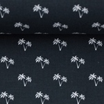 TONI Popeline Mini Palme schwarz weiß