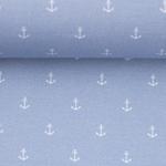 TONI Popeline Mini Anker hellblau weiß