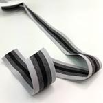 Gummiband 35 mm hellgrau grau schwarz
