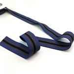 Gummiband 35 mm jeansblau grau schwarz
