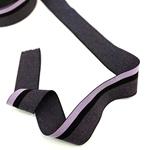 Gummiband 40 mm meliert gestreift violet