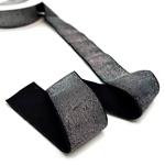 Gummiband Lurex 40 mm schwarz silber