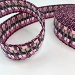 Jacquard-Gurtband 40 mm rosa bordeaux