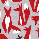 WILDLIFE Foxes Canvas Organic grau