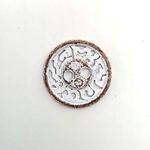 Metallknopf Shabby 2-Loch 15 mm weiß