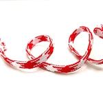 Flechttresse 10 mm weiß rot