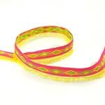 Fransenborte 15 mm pink gelb grün