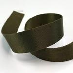 Gurtband Polyester 25 mm glänzend khaki