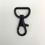 Metall Karabinerhaken 20 mm schwarz