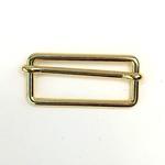 Metallschließe Versteller gold 40 mm