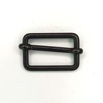 Metallschließe Versteller schwarz 25 mm