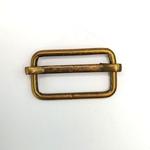 Metallschließe Versteller messing 25 mm