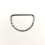 Metall D-Ring 40 mm silber