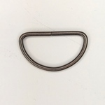 Metall D-Ring 40 mm altsilber
