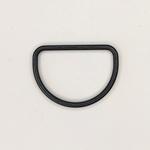 Metall D-Ring 40 mm schwarz