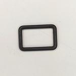Metall Rechteck 25 mm schwarz