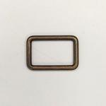Metall Rechteck 25 mm altmessing