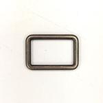 Metall Rechteck 25 mm altsilber