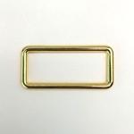 Metall Rechteck 40 mm gold