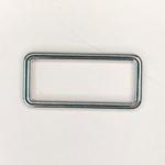 Metall Rechteck 40 mm silber