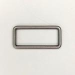 Metall Rechteck 40 mm altsilber