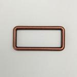 Metall Rechteck 40 mm altkupfer