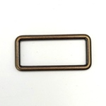 Metall Rechteck 40 mm altmessing